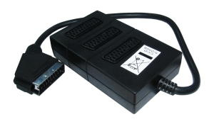 0.5m 3 Way SCART Splitter Box 0.5m