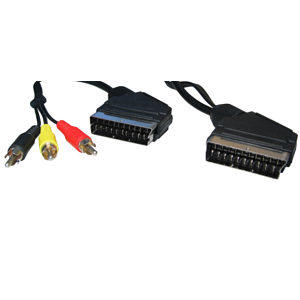 1.5m SCART to SCART Cable plus 3 Phono to 1.5m