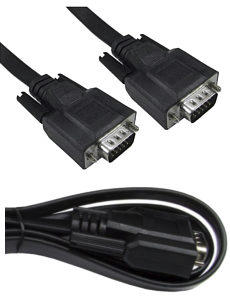 1m Flat VGA Cable Male to Male Fully Wired Super Thin