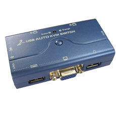 2 Port KVM Switch USB Audio VGA with Cables
