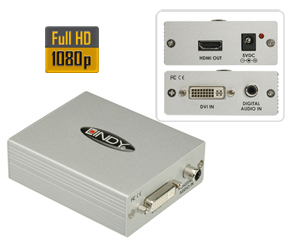 DVI-D and SPDIF to HDMI Converter