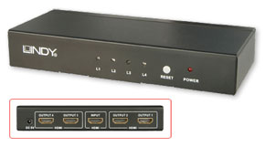 4 Port HDMI 1.3b Splitter