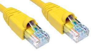 10m Snagless CAT5e Patch Cable Yellow 24 AWG
