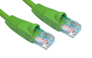 15m Snagless Patch Cable Green 24 AWG Network Cable