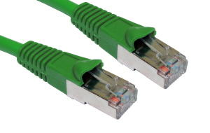 10m CAT5e Shielded Snagless Patch Cable Green 26 AWG