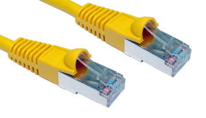2m CAT5e Shielded Snagless Patch Cable Yellow 26 AWG