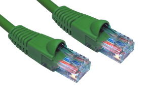 1m LSZH Snagless CAT6 Patch Cable Green 24 AWG