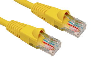 0.5m LSZH Snagless CAT6 Patch Cable Yellow 24 AWG