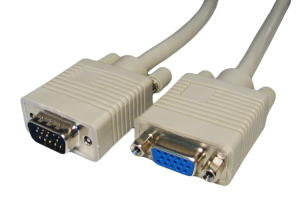 1m VGA Extension Cable Triple Shielded VGA-Male to Female