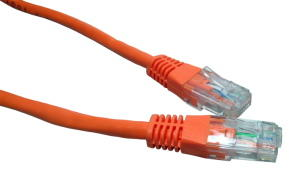 0.25M CAT6 UTP PVC Inj Moulded Cable Orange
