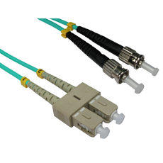 1m ST to SC OM3 Fibre Optic Network Cable