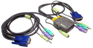 2-Port KVM With Audio Function C/W Moulded Cable