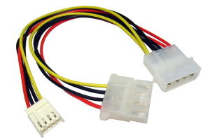 15cm 4-Pin Molex M-4-Pin Molex F+Floppy Drive Power