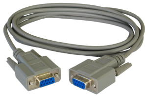 10m Null Modem Cable D9 Female to D9 Female
