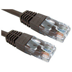 20m Brown Ethernet Cable Full Copper 26AWG
