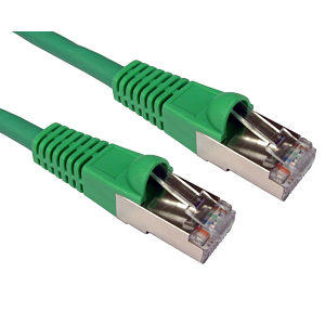 0.5m CAT6A Patch Cable Green 10GBase-T