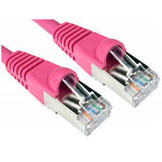 25cm CAT6A Network Cable Shielded Pink 0.25m