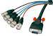1.8m VGA Cable - Premium SVGA to 5 x BNC Monitor Cable (15HDM 5xBNC)